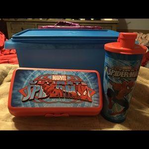 BNWT TUPPERWARE Spider-Man Lunch Set